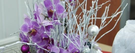 Galeria z warsztatów florystycznych – dekoracje świąteczne