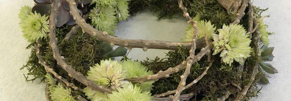 Kompozycje nagrobne – zdjęcia z warsztatów florystycznych
